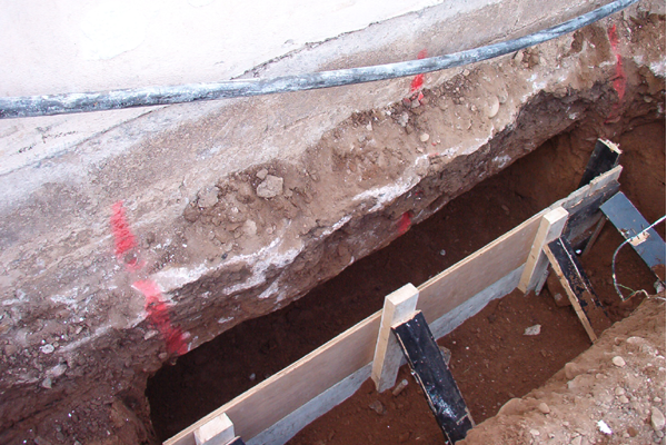 Concrete Underpinning For Sacks : Mass concrete underpinning from manning contractors